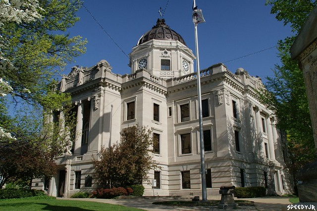 monroe county indiana courthouse 1908 bloomington in