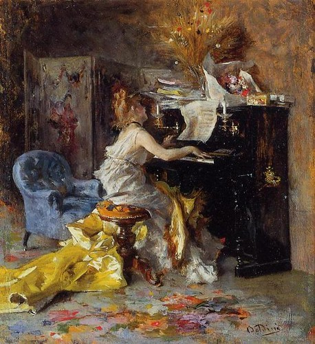 woman at a piano | by t. van gieson