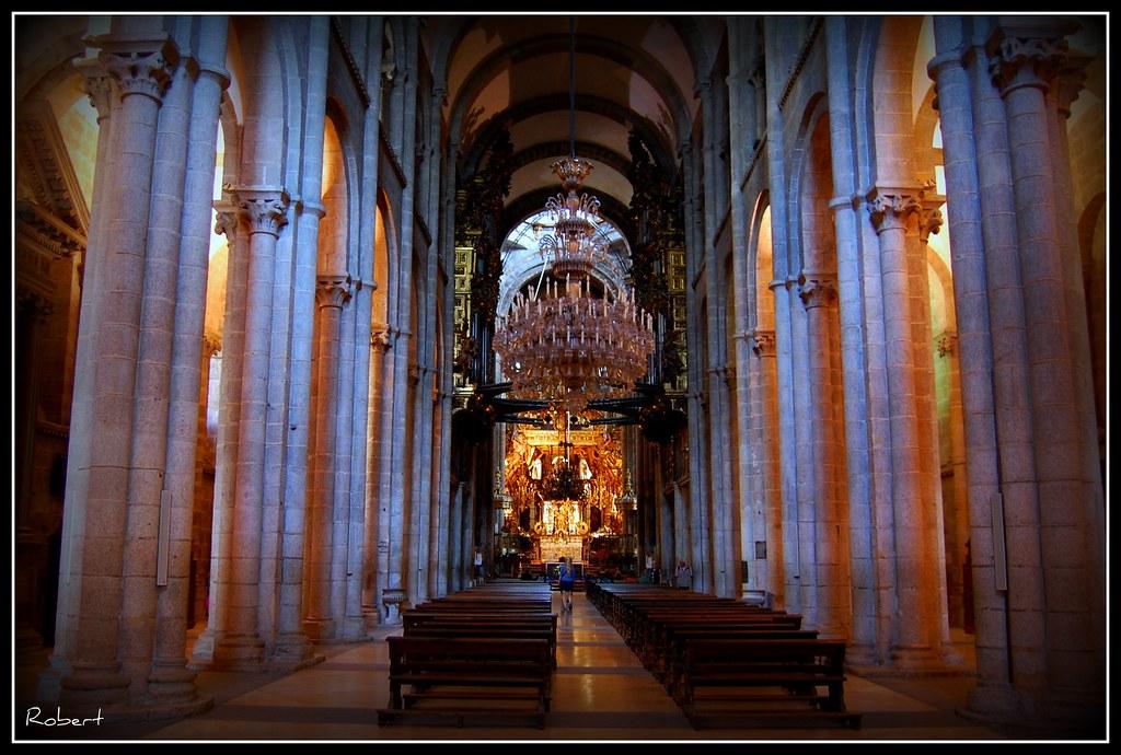 Catedral de santiago de compostela interior de la - Interior santiago de compostela ...