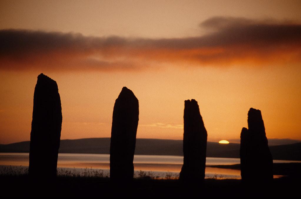 Sunset. Standing Stone...