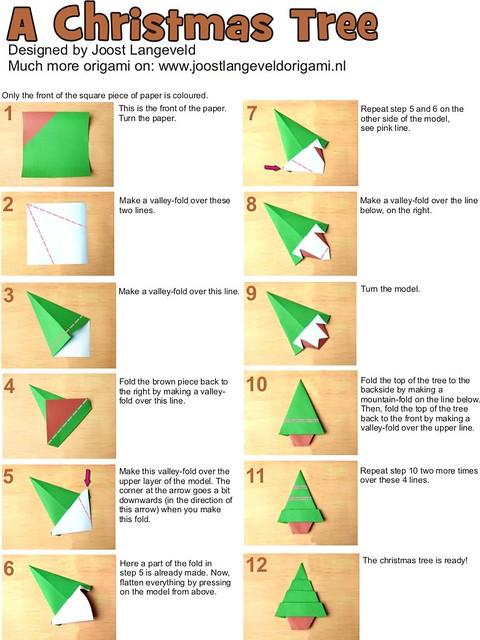 Origami Christmas Tree | Diagrams for an origami christmas ... - photo#38