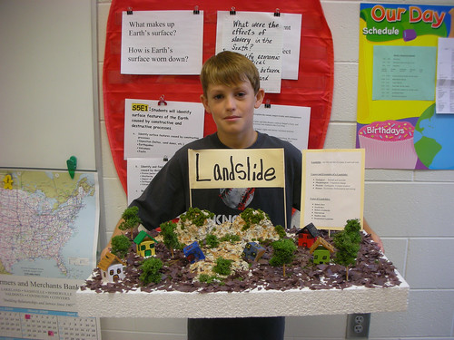 Science Project Landslide Cole Designed And Created A