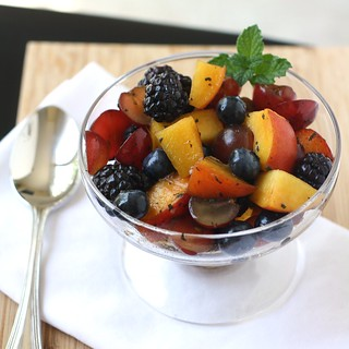 Summer Fruit Salad with Mint Sugar | by Tracey's Culinary Adventures