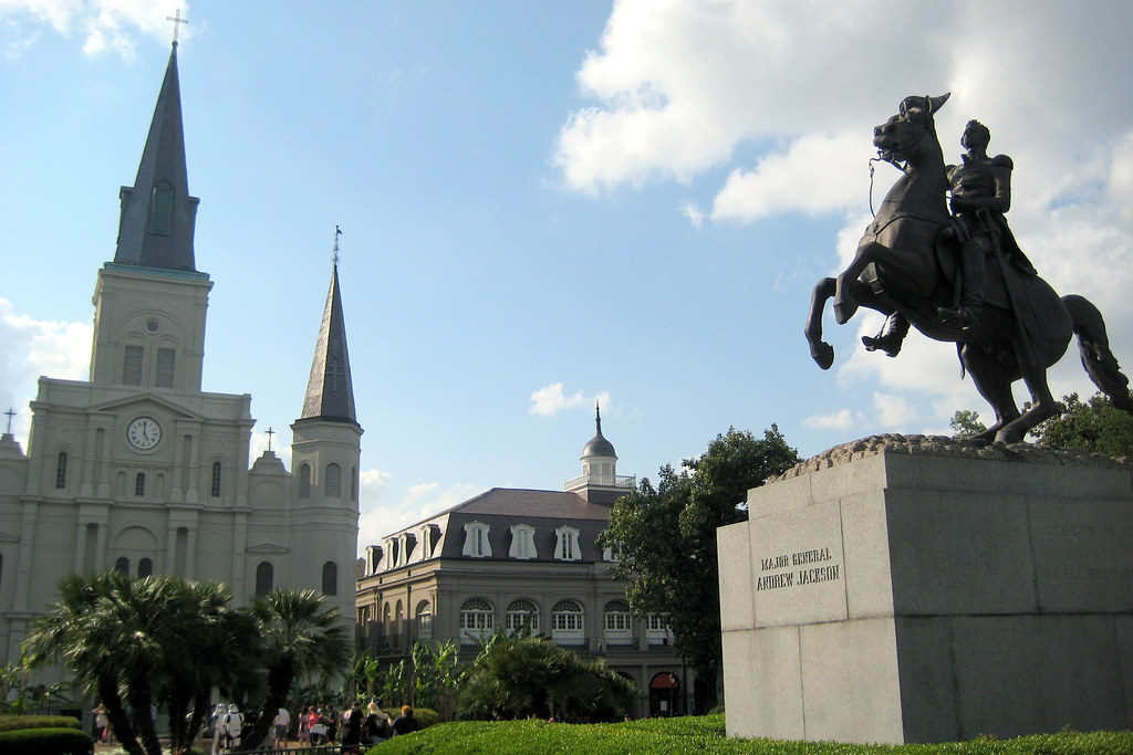 New Orleans French Quarter Jackson Square And St Louis