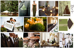 wood forest green brown wedding inspiration | by finestationery