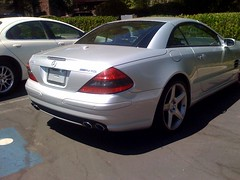 Mercedes? Check. No license plate? Check. Handicap spot? Yep, this is Steve Jobs' car!!! | by ranajune