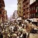 Mulberry Street market, Little Italy, New York City, 1900