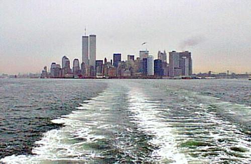 Nyc98kstaten09 Staten Island Ferry View Of Manhattan Wtc N