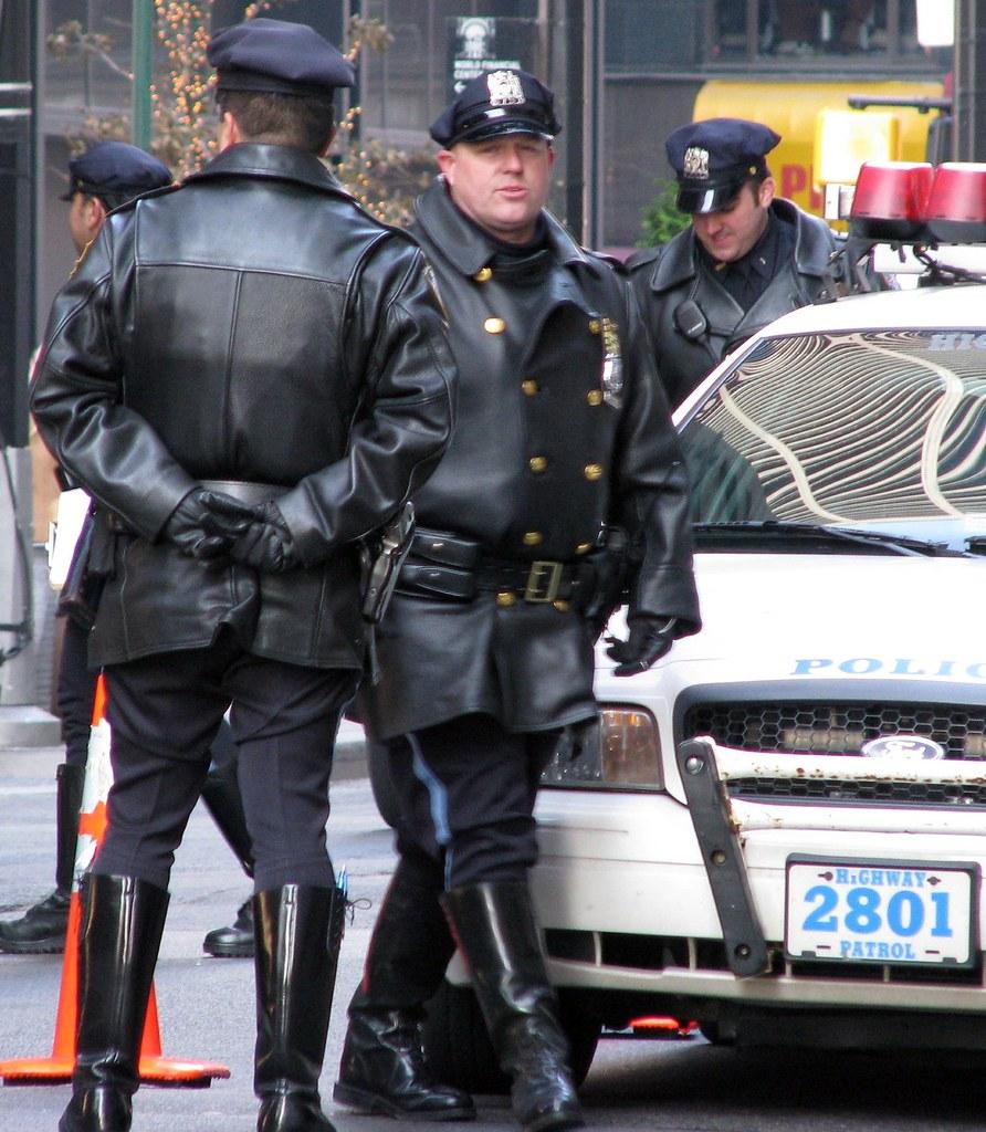 Black patrol white cops with big tits riding big black cock on the job - 4 10