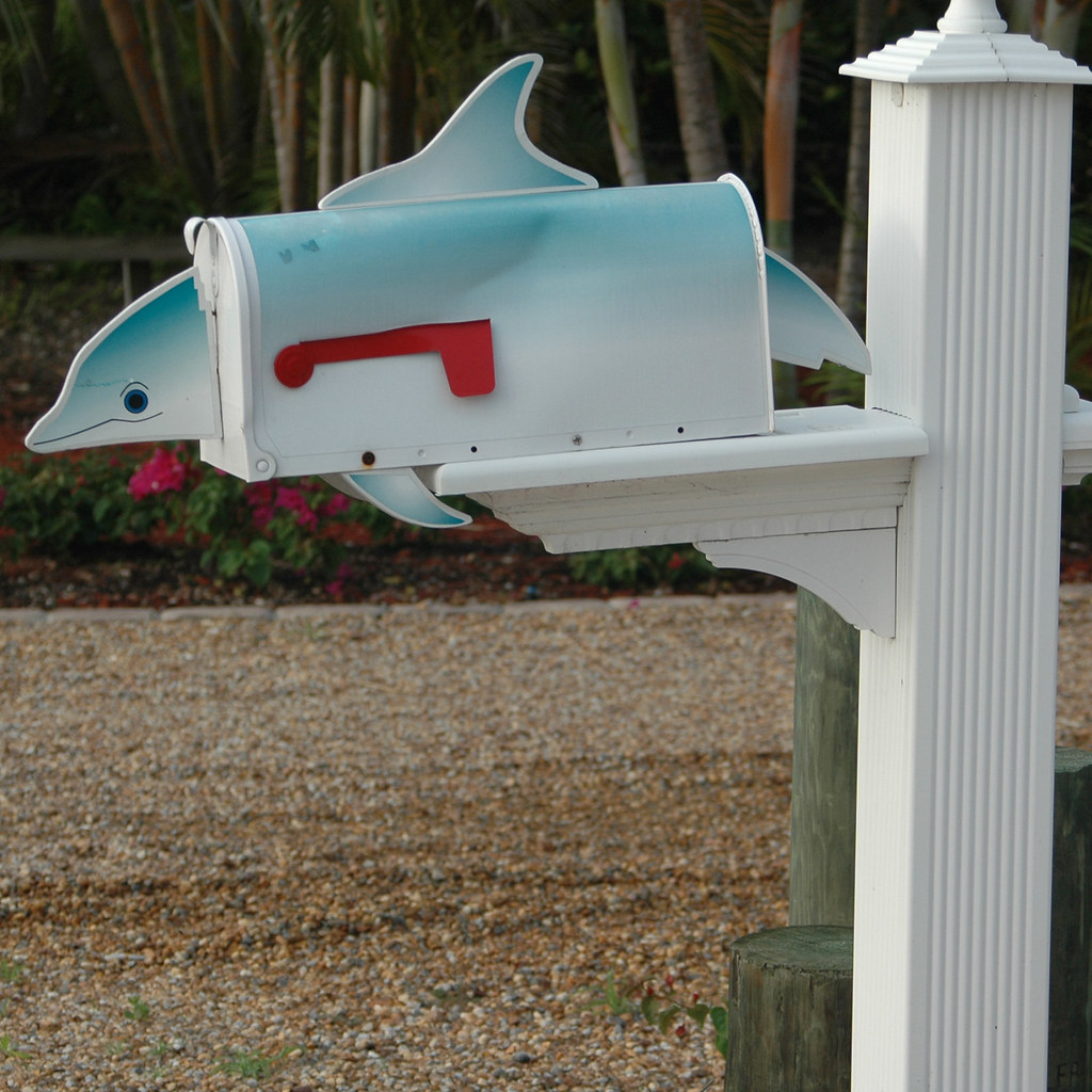 Mailbox Dolphin 3 Decorative Mailbox In Front Of A