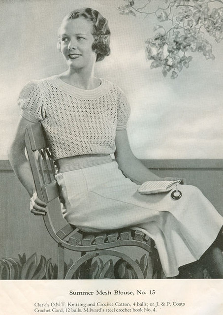 Vintage Knitting Patterns 1930s Sweaters Blogged Here