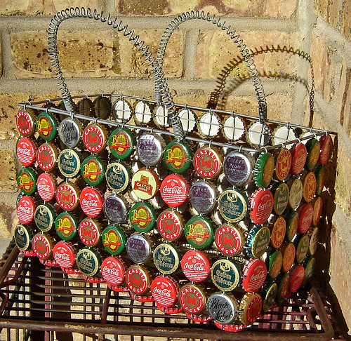 Bottle cap basket 3 of 5 photos flickr photo sharing - Beer bottle caps recyclable ...