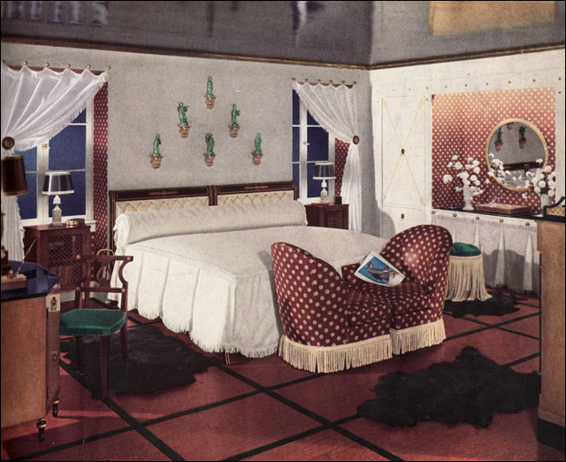 1936 middle class glam this bedroom was likely the kind for Bedroom designs middle class
