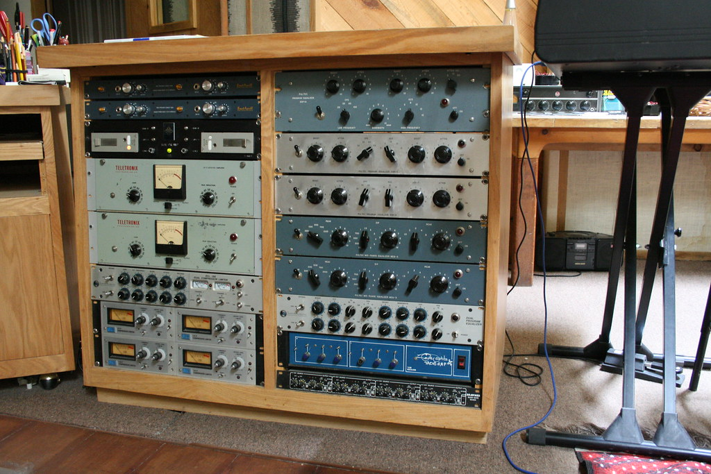 Rack of Pultecs   The outboard gear at Stepbridge includes ... Stepbridge