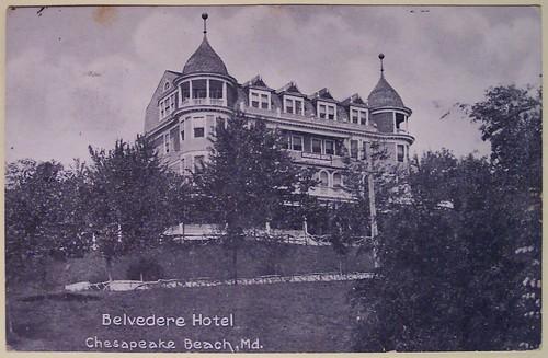 Vintage Postcard Belvedere Hotel Chesapeake Beach