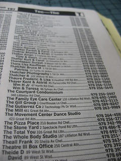 The Phone Book Listings | by herzogbr