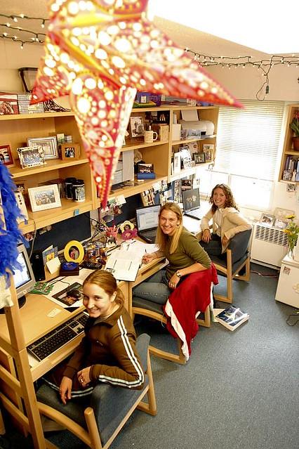 Decorating Ideas > Hill Hall Dorm Room  Students In A Triple Room In Hill  ~ 091823_Dorm Room Ideas For Triples