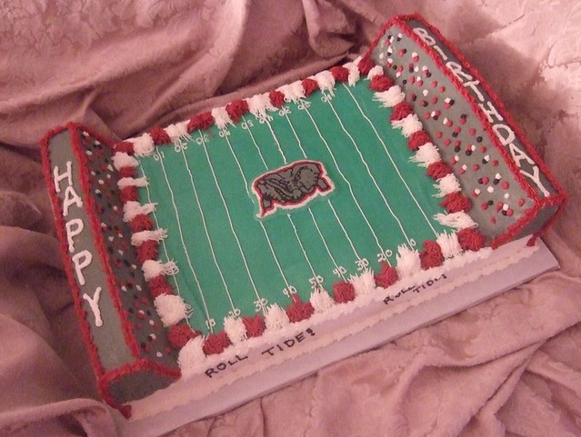 Alabama Football Cake This halfsheet cake was done for a Flickr