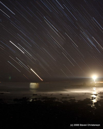 Pigeon Point Star Streaks | by Steven Christenson