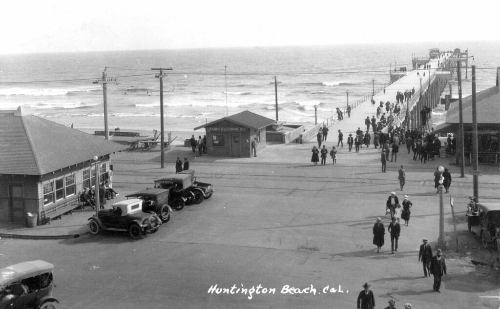 Huntington Beach Pier Circa Early 1920s Huntington