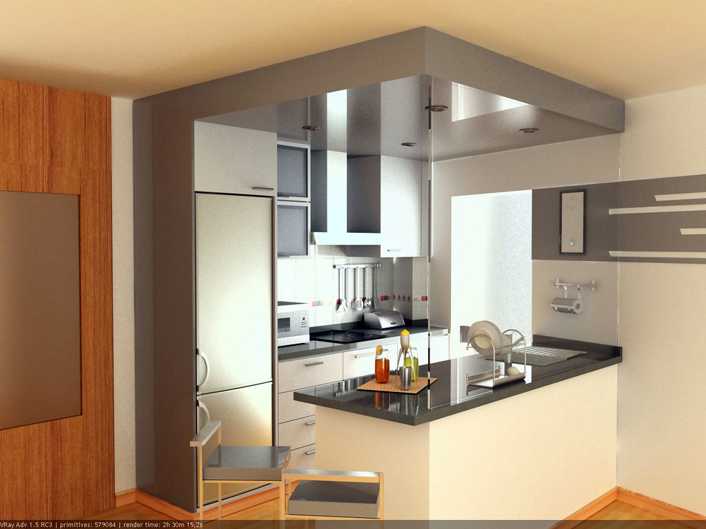 Cocina americana gris claro eir s coru a galicia for Software decoracion interiores 3d gratis
