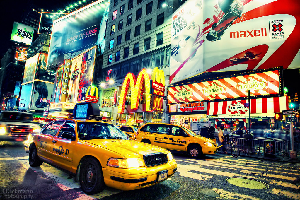 NYC Taxi  Times Square, New York City larger view Dont