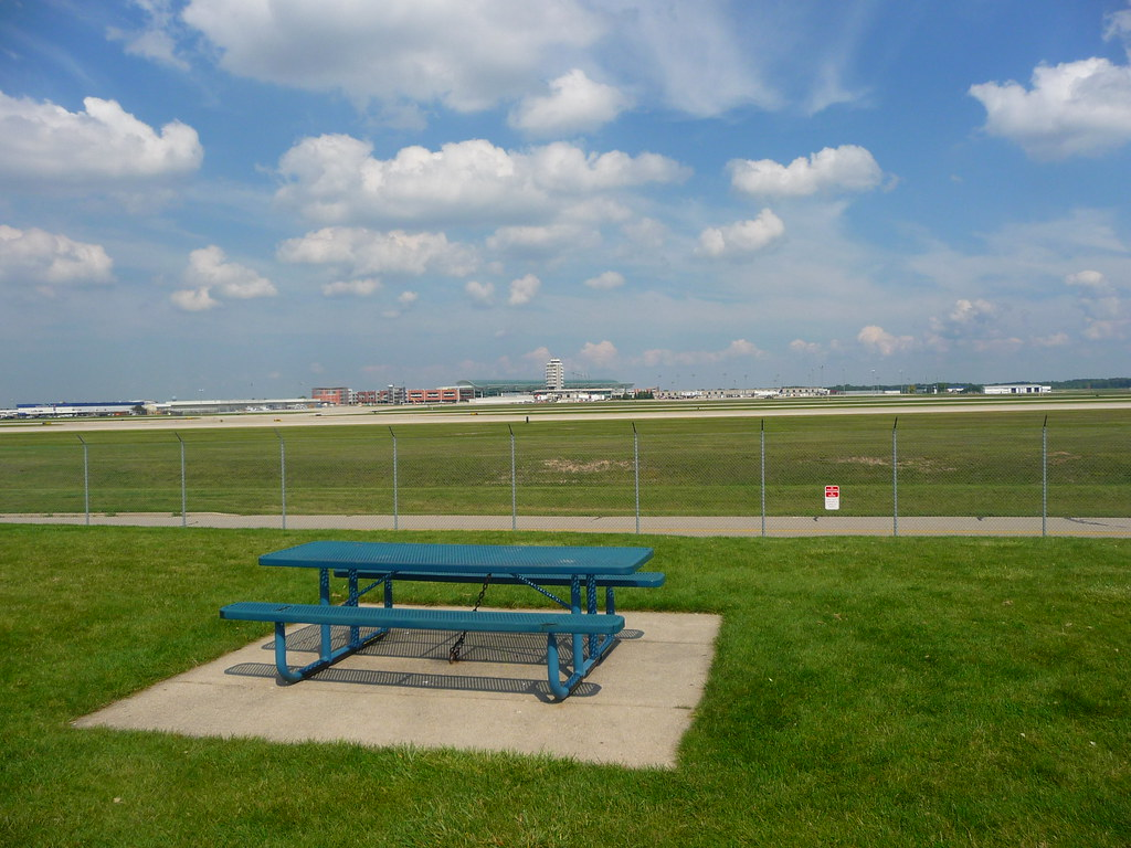 A Picnic At The Airport Viewing Area At The Gerald R