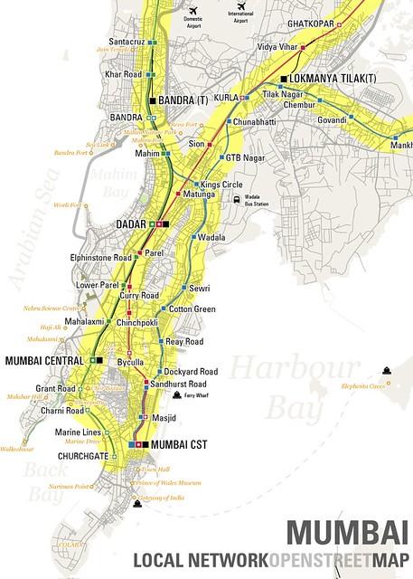 Mumbai Local Openstreetmap Map Of South Mumbai S Local
