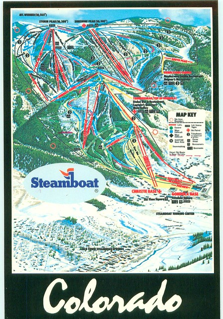 Colorado Steamboat Ski Trails Map Vertical FOR TRADE Flickr Photo Sha