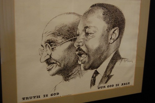 a comparison of mahatma gandhi and dr martin luther king It's no big secret that martin luther king jr took great inspiration from mahatma gandhi in pushing forward his civil rights movement although the two never met personally, dr king was .