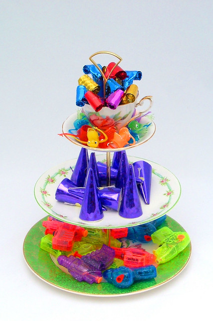 Tier Cake Stand With Wedding Sweets And Savouries
