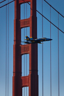blue angel flyby of the golden gate bridge 2008 | by bhautik joshi