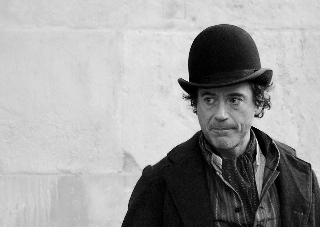 Robert Downie Jr 4   On set of new Sherlock Holmes film ... Robert Downey
