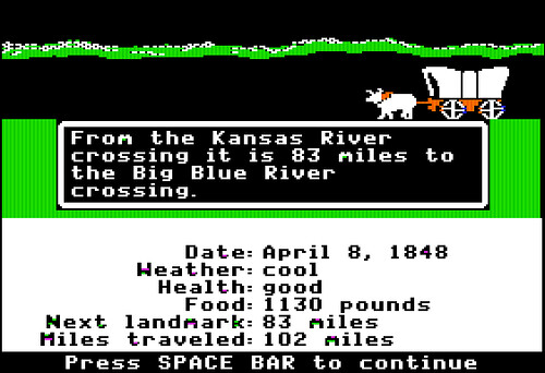 Oregon Trail - We had to play this game in school when I was just a little dude. | by Eric The Robot