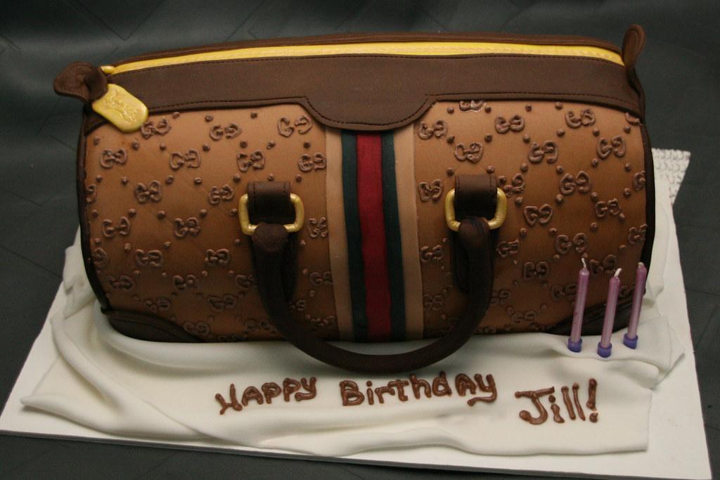 Jill s Gucci Bag Birthday Cake This Gucci bag was ...