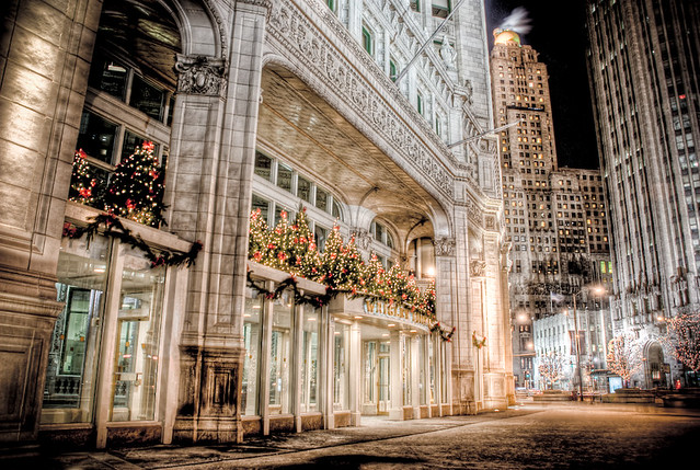 wrigley building christmas decorations in chicago 1 by spudart - Chicago Christmas Decorations