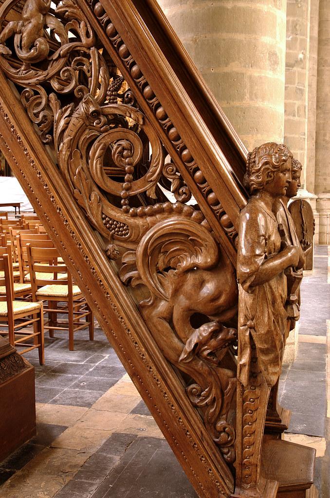 Lier Vlaanderen Sint Gummaruskerk Pulpit Stairs Detai