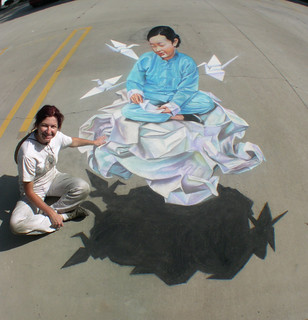3D Street Painting - 3 Cranes | by Tracy Lee Stum