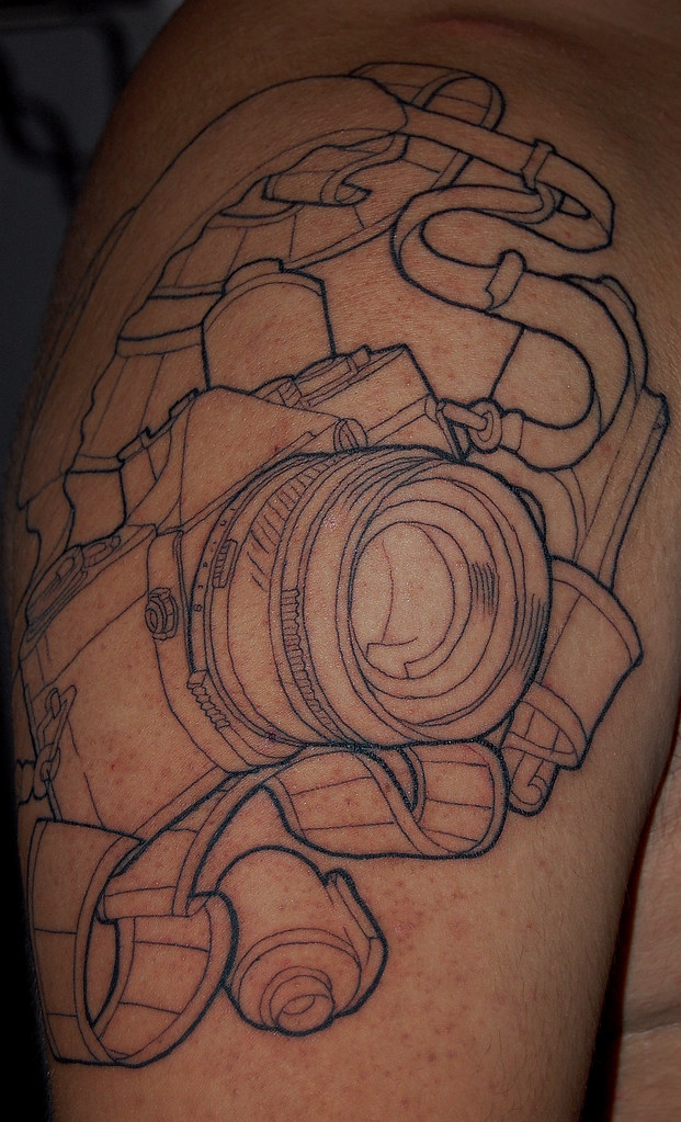 camera tattoo not finished yet tatt up close moosehead08 flickr. Black Bedroom Furniture Sets. Home Design Ideas