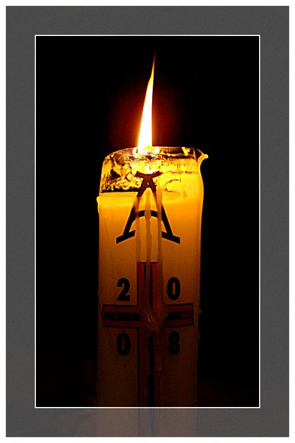 Paschal Candle I Love Seing The Lit Paschal Candle At