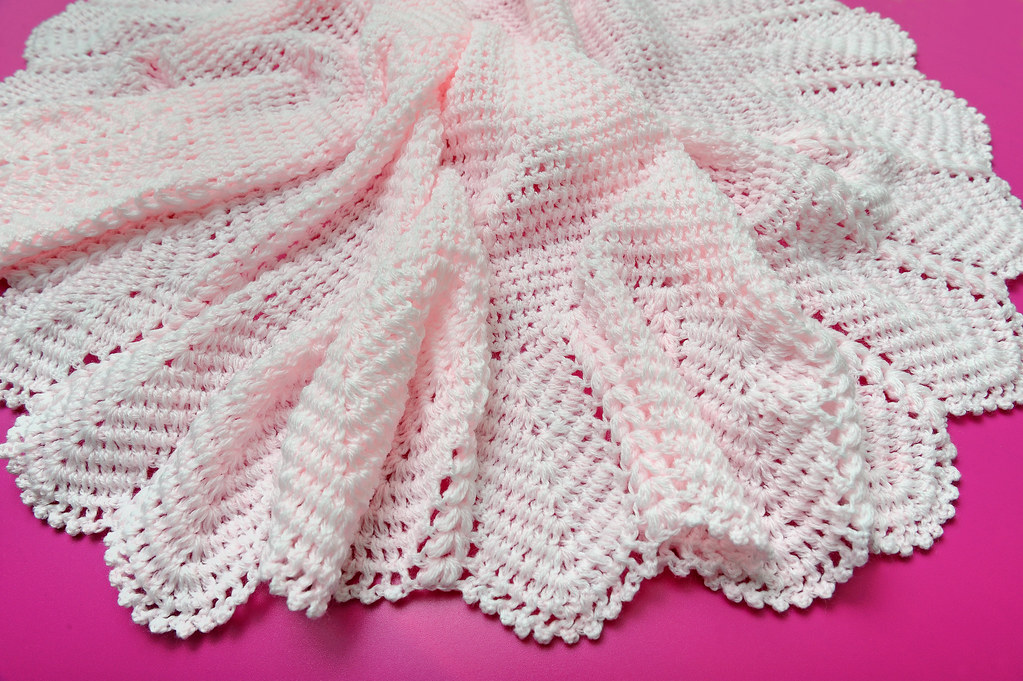 Crochet Baby Blanket Patterns 4 Ply : Beautiful Hand Crochet 3 Ply Pale Pink Babies Shawl Flickr