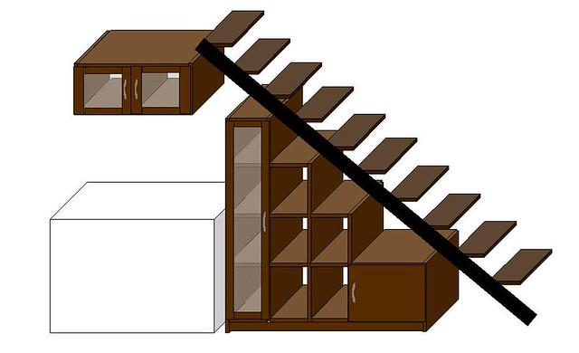 de biblioteca en mueble bajo escalera by javier pisera with muebles bajo escalera