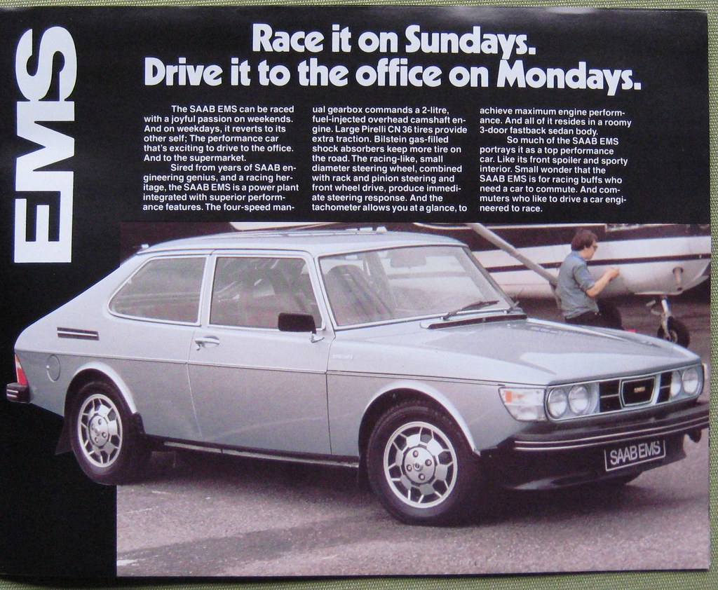 Saab For Sale >> SAAB 99 EMS, 1978 | From a brochure in my collection. | JOHN LLOYD | Flickr