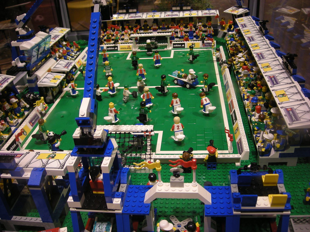 Lego Football Stadium Part Of A Display In Z 252 Rich Toy
