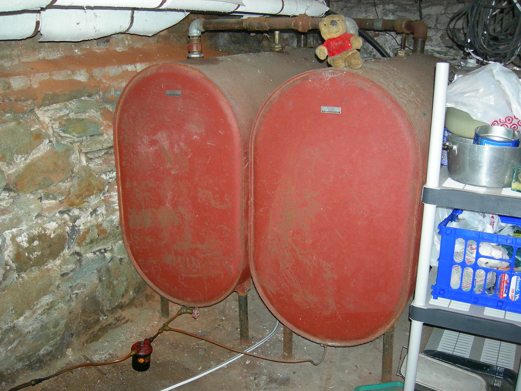 Oil Tanks Two 250 Gallon Tanks With Approximately 300