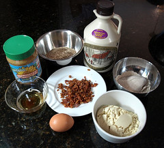 Ingredients for Nutty Bacon Dog Treats | by maggiehc