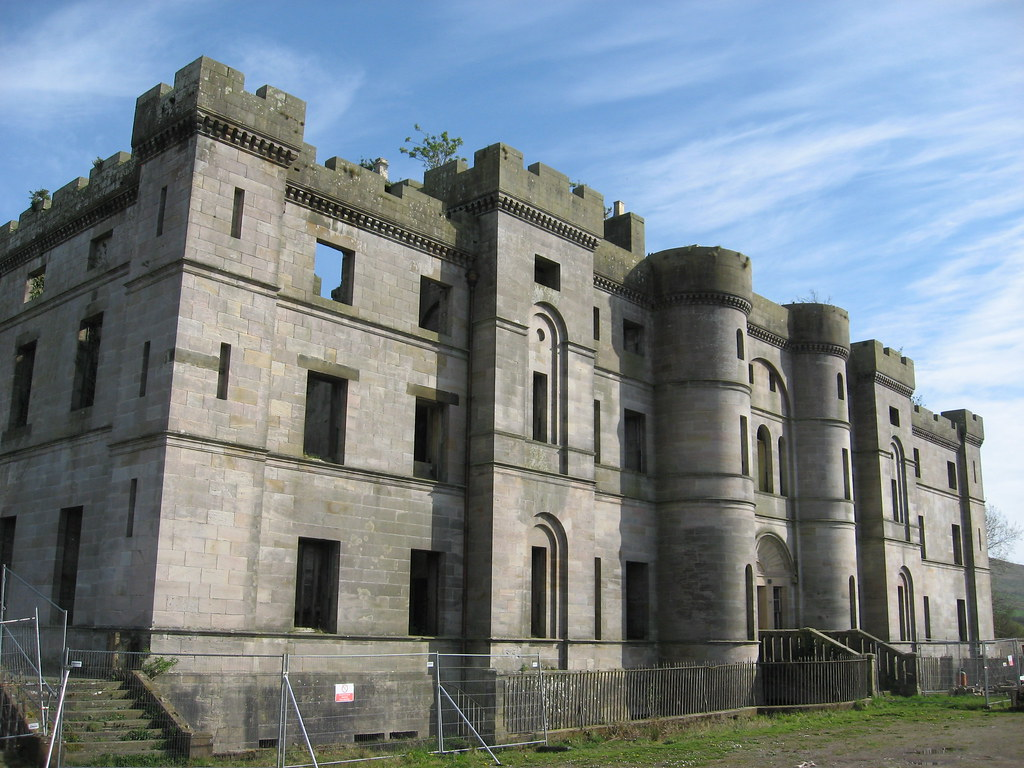 Dalquharran Castle Front Dailly Ayrshire Designed By