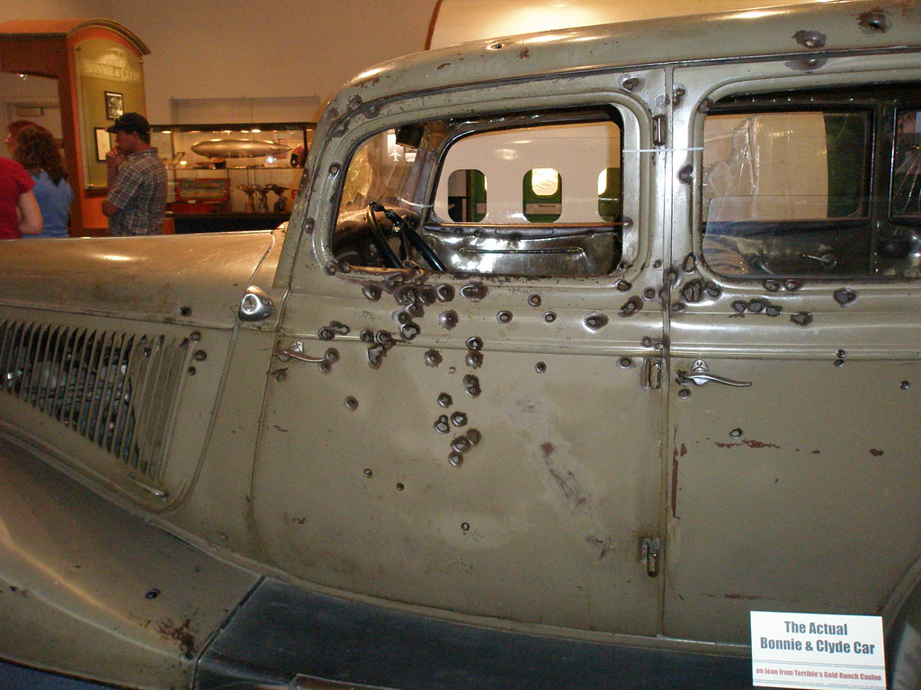 Bonnie And Clyde Car Location: Lots Of Bullets... Maybe A Bit Of An