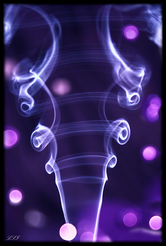 "PURPLE Dazzler - My first ""Smoke Art"" attempt... 
