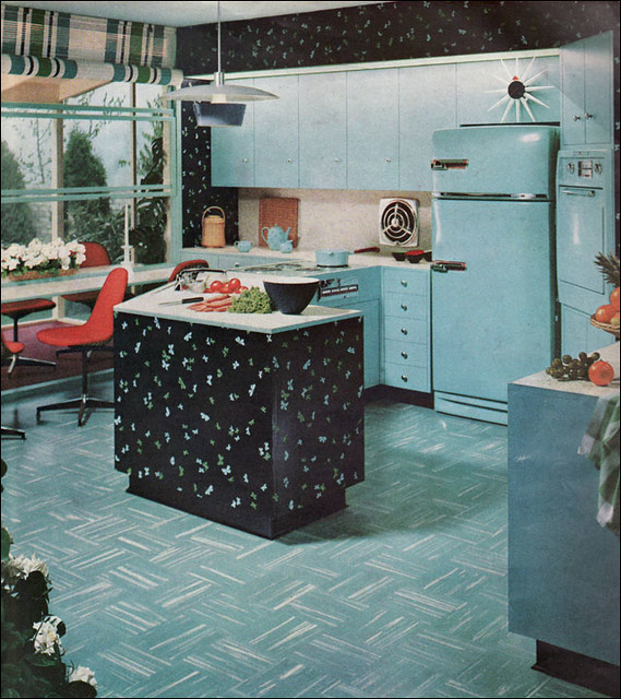 Vintage Kitchen Photography: 1955 Powhatan Turquoise Kitchen